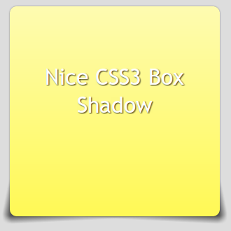 Box mit coolem box-shadow