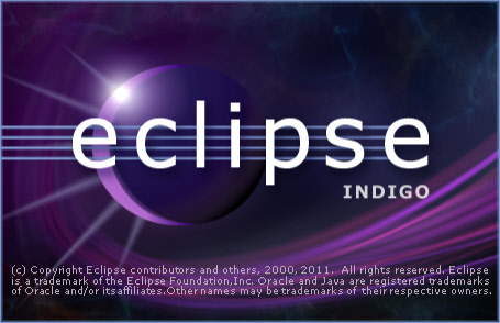 Eclipse Indigo Splashscreen